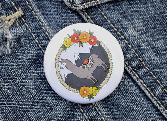 Llama Pin Badge