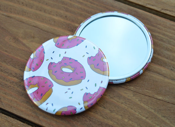 Doughnut pocket mirror