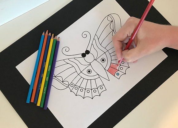 Print-At-Home Butterfly Colouring Sheet