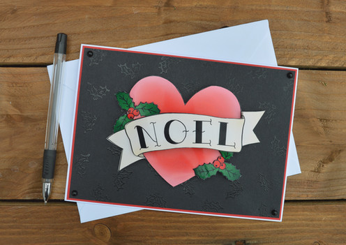 Noel Tattoo Christmas Card