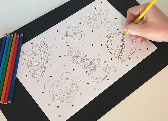 Print-At-Home Junk Food Colouring Sheet