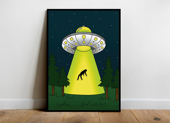 alien ufo wall art