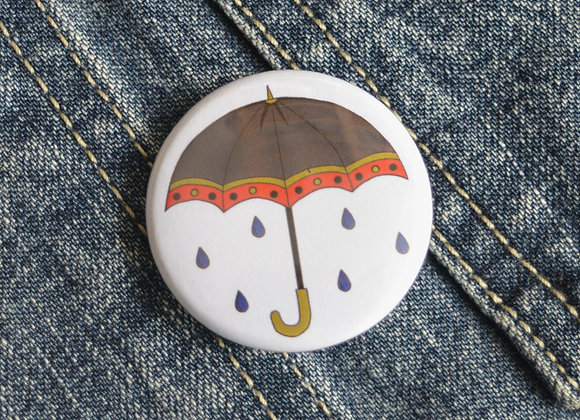 Umbrella Pin Badge