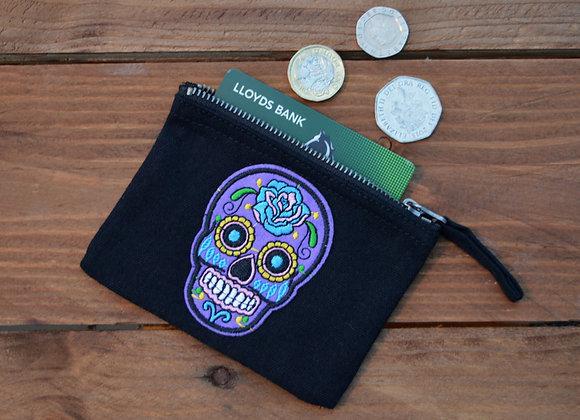 Purple Skull Coin Purse