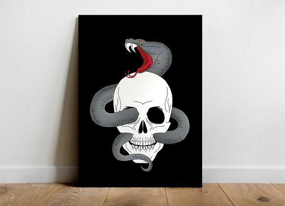 Skull Snake Art Print