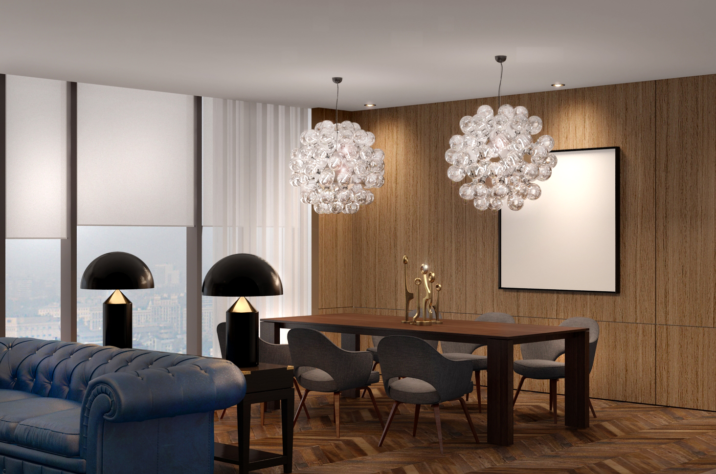 Lounge and dining room