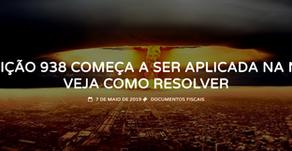 Fisco causa rejeição 938 em milhares de contribuintes