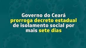 Ceará prorroga a quarentena por mais 7 dias