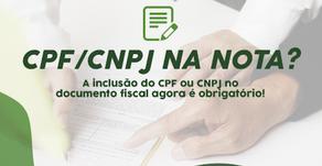 CPF na Nota fiscal obrigatório