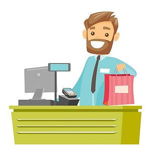 caucasian-white-cashier-handing-over-sho
