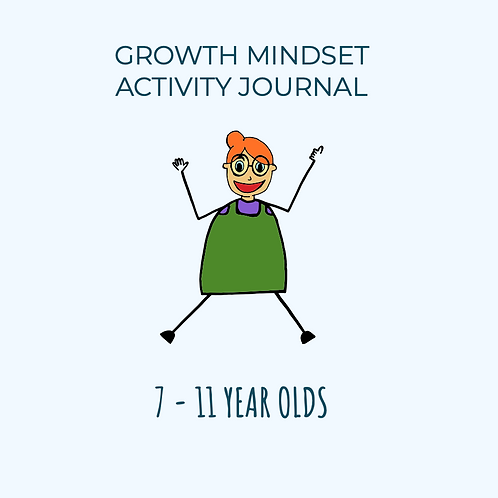 Growth Mindset Activity Mini Journal 7-11 year olds