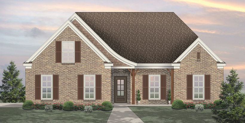 Hydrangea Floor Plan Rendering Sky Lake Construction