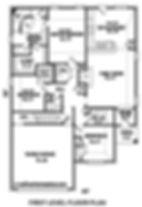 Paper Birch floor plan first floor Sky Lake Construction