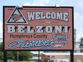 Belzoni MS Welcome sign