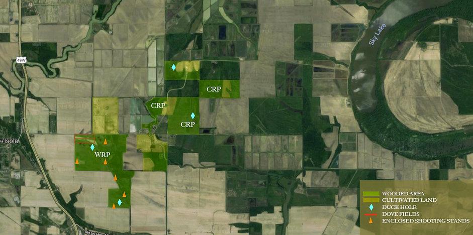Sky Lake Hunting Property Map