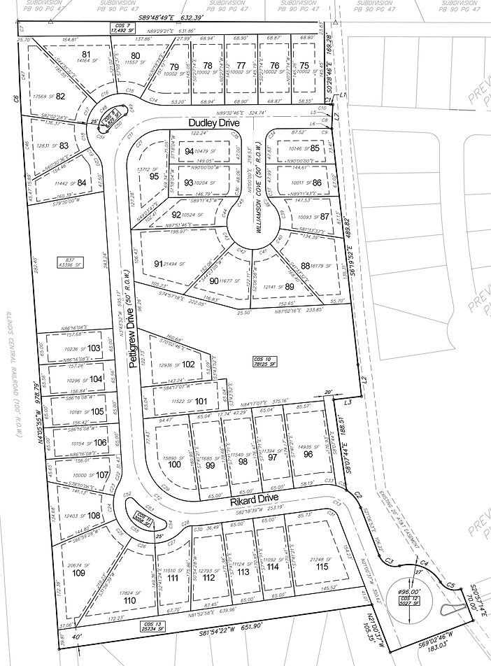Arbor Pointe Phase II Final Plat pg. 1 c