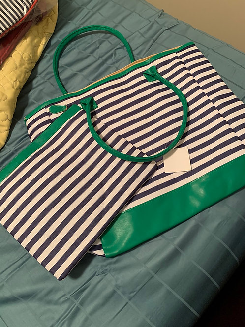 2 Piece Nautical Tote