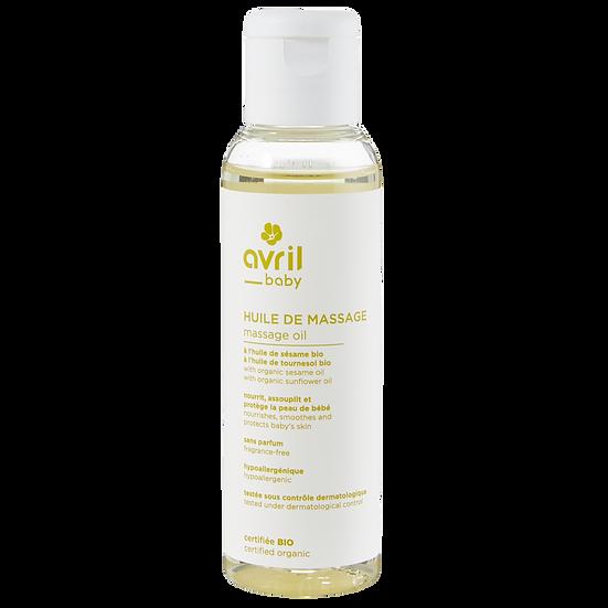 Huile de massage bébé 100 ml – Certifiée bio