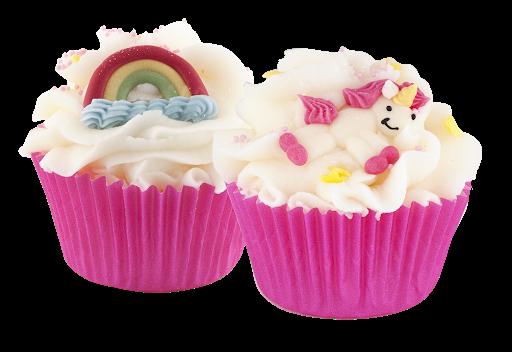 Maxi cupcake Licorne et Arc en ciel