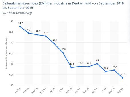 EMI: Risiko einer Industrierezession im September gewachsen