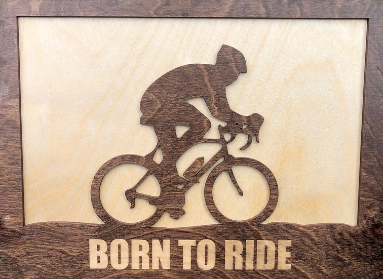 Mountain Biker Born To Ride Wall Plaque