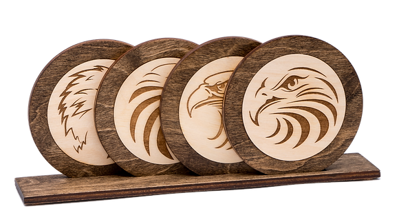 "Coaster-""Eagle Inlaid"""