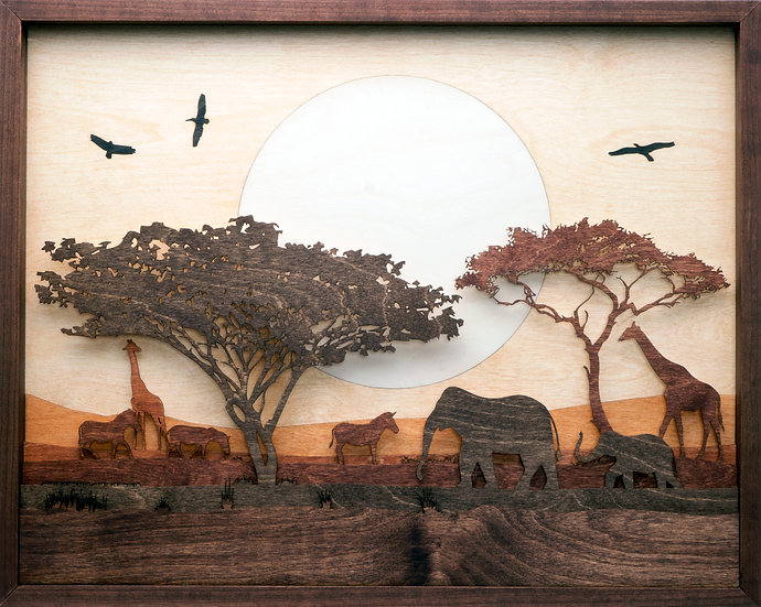 """Sunset on the Serengeti"""