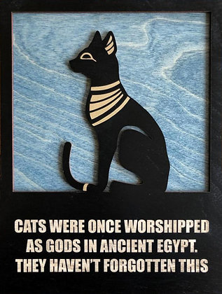 Egyptian Cat Plaque