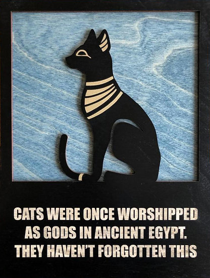 Egyptian Cat Plaque
