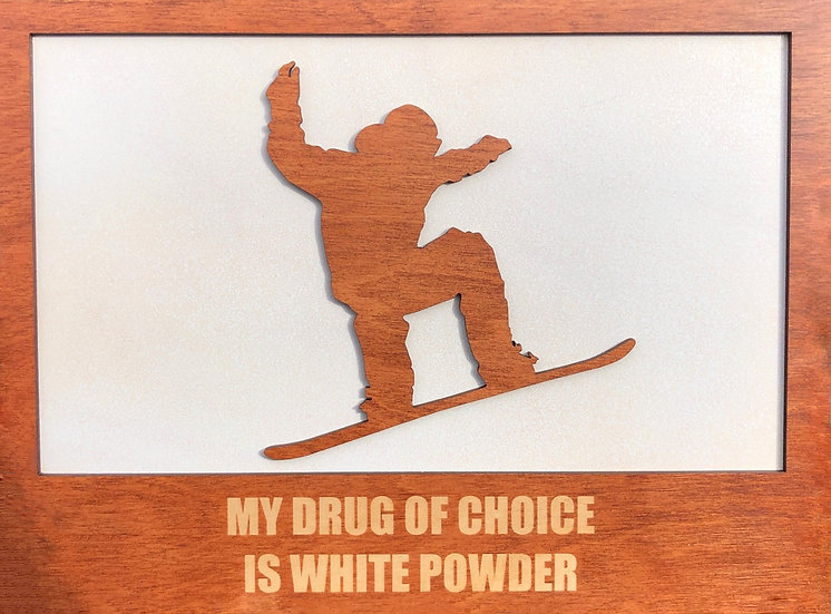 Snowboarder Funny Wall Plaque