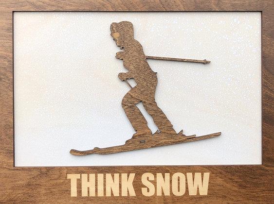 Downhill Skier Plaque