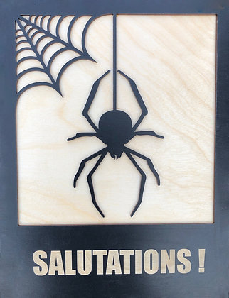 Spider Salutations Wall Plaque