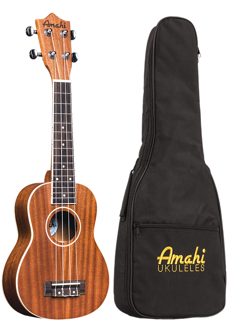 Amahi Select Mahogany, Bound Neck & Body
