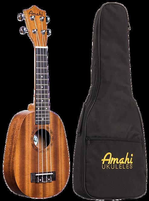 Amahi Select Mahogany Top, Back & Sides, Pineapple Shape