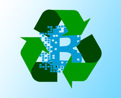 blockchain recycle graphic