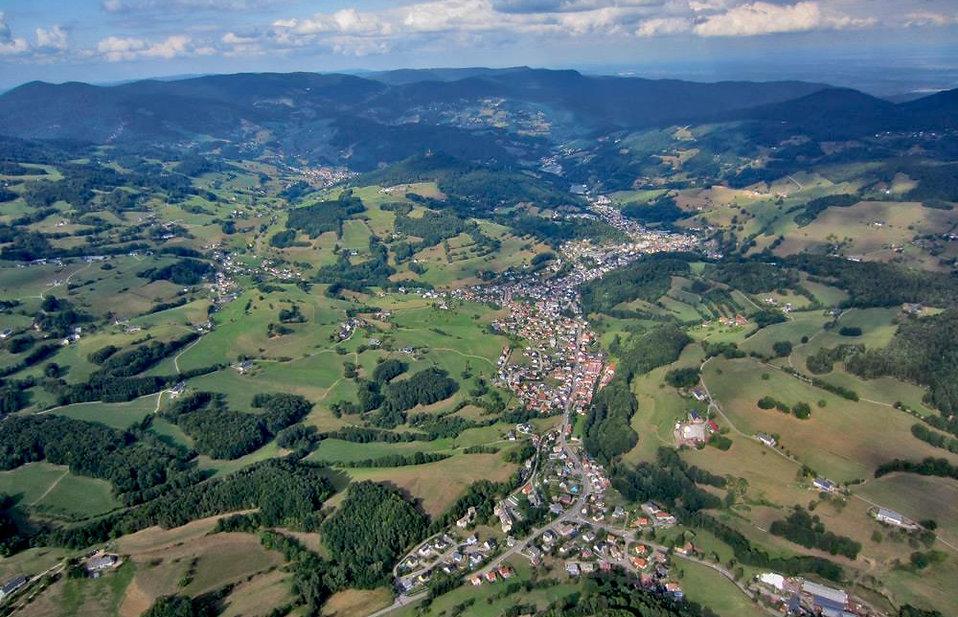 Vue aérienne Orbey, Pays Welche