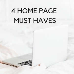 Home Page Must Have's for Wix Websites