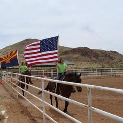Flag ceremony on horse.jpg