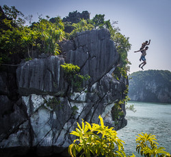 Rock jump