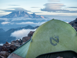 Mount rainier from the tent