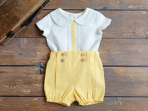 """AURORA ROYAL"" BOYS  2PCS LINEN OUTFIT"
