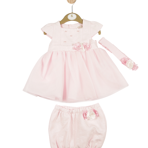 Mintini Baby Girls Pink Dress