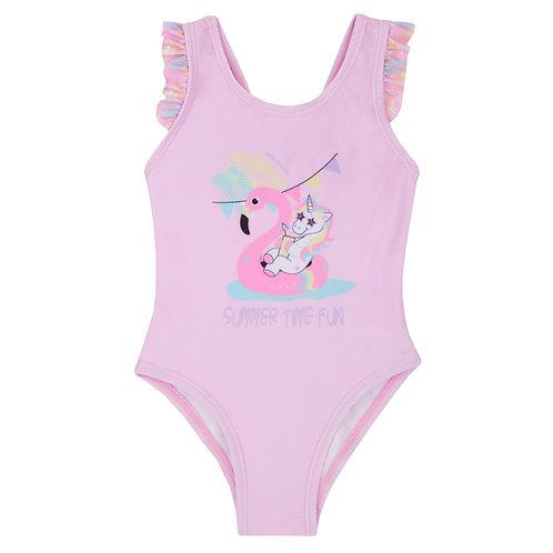 Flamingo Frill Swimsuit