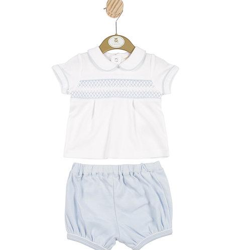 Smocked Shorts Set