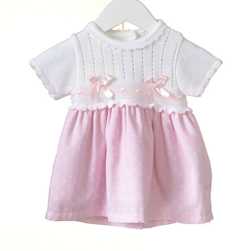 Baby Girl Knitted and woven dress
