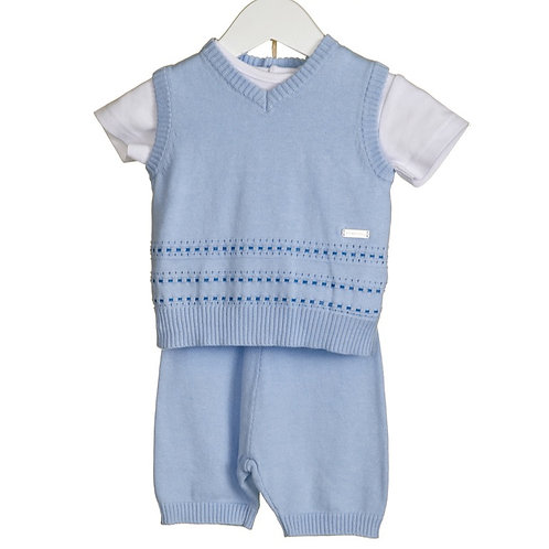 """""""Blues Baby"""" Knitted Three Piece Tank Top Set"""