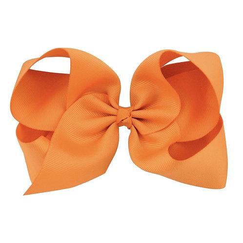 orange hair bow clip