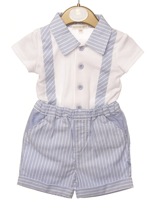 Mintini Baby Bodysuit Dungaree Set