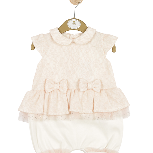 Mintini Baby Girls Pink Romper