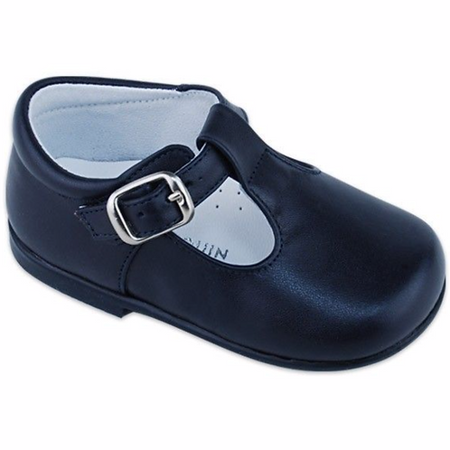 "Saltin&Banquin ""pepito leather"" Navy Blue boys shoes"